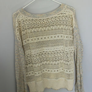 Free people comfy detailed lightweight  sweater